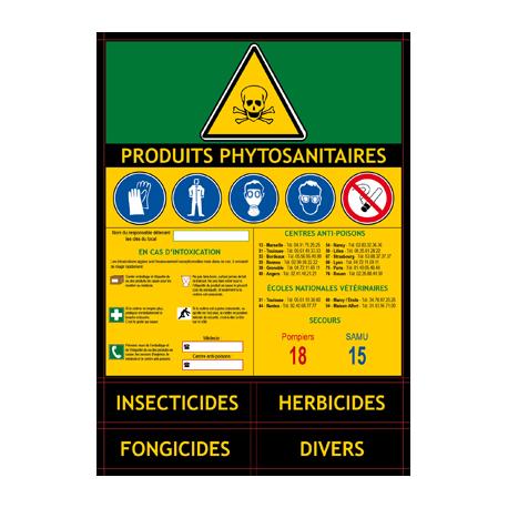 Adhesif Armoire Local Produits Phytosanitaires
