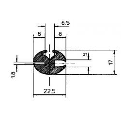 PROFIL GLACE CAOUTCHOUC