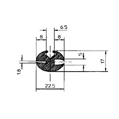 PROFIL GLACE 22.5X17MM