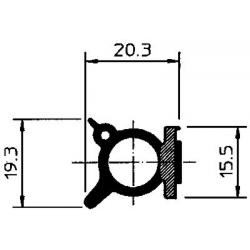JOINT PROFIL ADHESIF 19.3X20.3MM