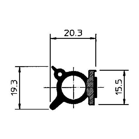 PROFIL ADHESIF P1003MT00010/B