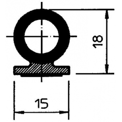 PROFIL ADHESIF P1015MT00010/H
