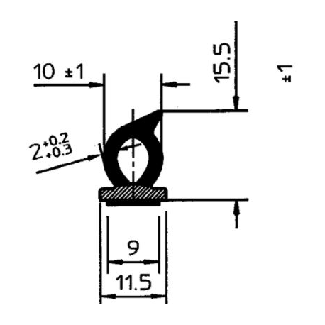 PROFIL ADHESIF P1009MT00010/C