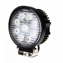 PHARE DE TRAVAIL ROND 9 LED 1700LM LARGE 12/24V AGRILED