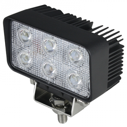 PHARE DE TRAVAIL RECTANGLE 6 LED 1500LM LARGE 12/24V AGRILED