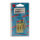 10 RACCORDS BOUT A BOUT THERMORETRACTABLES JAUNE 15mm