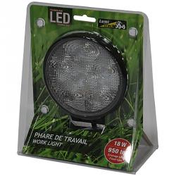 PHARE DE TRAVAIL ROND 6 LED 950LM LARGE 12/24V LUMITRACK