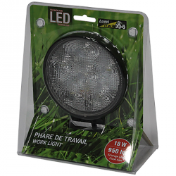 PHARE TRAVAIL LED ROND 6 LED 950LM