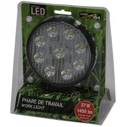 PHARE DE TRAVAIL ROND 9 LED 1450LM LARGE 12/24V LUMITRACK