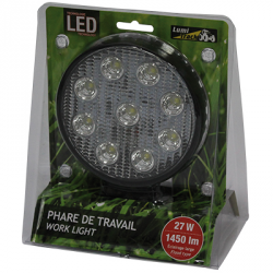 PHARE DE TRAVAIL ROND 9 LED 1450LM LARGE