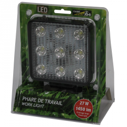 PHARE DE TRAVAIL CARRE 9 LED 1450LM LARGE 12/24V LUMITRACK