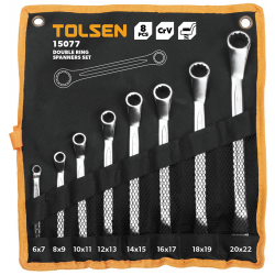 KIT 8 CLES POLYGONALES DEPORTEES TOLSEN