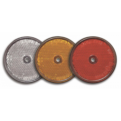 CATADIOPTRE ROND ADHESIF ORANGE + TROU DE FIXATION
