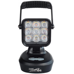 PHARE DE TRAVAIL/AVERTISSEUR 9 LED RECHARGEABLE ORANGE/BLANC 945LM