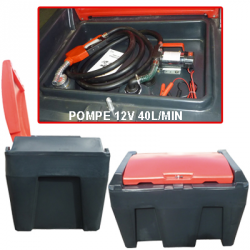 CUVE MOBILE 430L + SET POMPE 12V 40L/MN