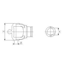 MÂCHOIRE TUBE EXT. 80° ORIG. 215046873 SÉRIE 4
