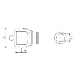 MÂCHOIRE TUBE INT. 80° ORIG. 208026864 SÉRIE 2