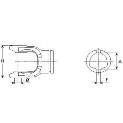 MÂCHOIRE ORIGINE BYPY 204086851 TUBE EXT. SÉRIE 8
