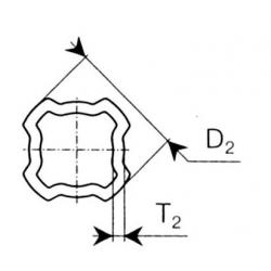 TUBE QUADRILOBE INT. S4 44.2X3.5 ORIG. 122413000