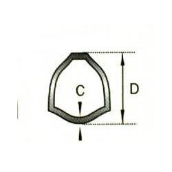 TUBE INT./EXT. 1M ORIG. 125123000 54X4 SÉRIE 8/6-7