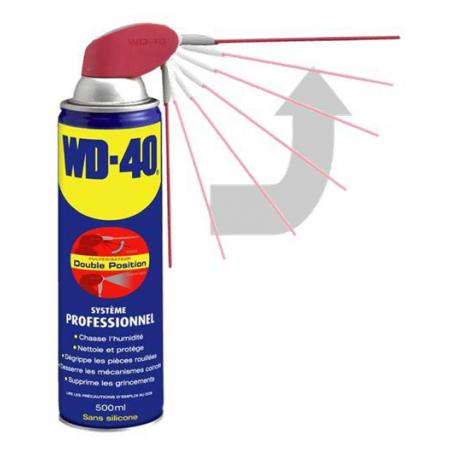 AEROSOL WD40 MUTLTIFONCTION SYSTÈME PROFESSIONNEL 500 ML