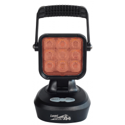 PHARE DE TRAVAIL - AVERTISSEUR 9 LED RECHARGEABLE ROUGE- SPECIAL AVICULTURE