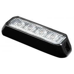 FEU FLASH 4 LED PLAT BLANC 12/24V