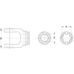 MACHOIRE DE TUBE A GORGE - 36X89