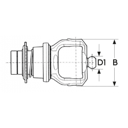 MACHOIRE VERROUILLAGE A BILLE SERIE 100 23,8X86 - Série 4