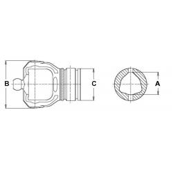 MACHOIRE DE TUBE SERIE 100 23,8X86 - Série 4