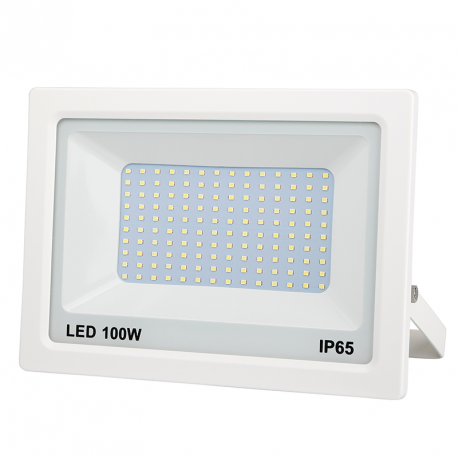 PROJECTEUR LED PLAT BLANC 100W 8000LM