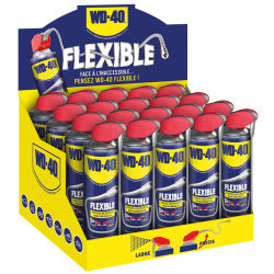 PRESENTOIR AEROSOL WD40 MULTIFONCTIONS SYSTEME PRO.+ FLEXIBLE 18CM 400ML 20PCS