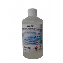 GEL HYDRO-ALCOOLIQUE SEPGEL FV70 FLACON 500ML
