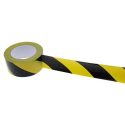 RUBAN ADHESIF PVC DANGER JAUNE/NOIR 50MM x 33M