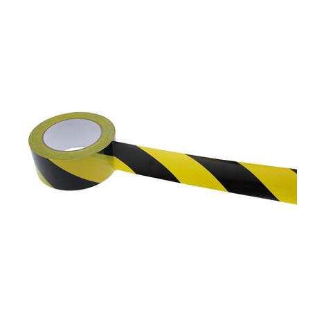 ADHESIF PVC DANGER JAUNE/NOIR 50MM x 33M