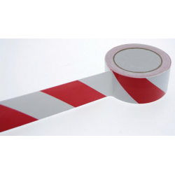 ADHESIF PVC DANGER ROUGE/BLANC 50MM x 33M