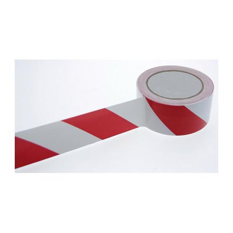 ADHESIF PVC DANGER ROUGE/BLANC 50MM x 33M