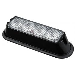 FEU FLASH 4 LED PLAT ORANGE 12/24V