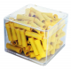 100 RACCORDS BOUT A BOUT JAUNE D3.4