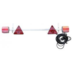 RAMPE DE SIGNALISATION METAL LED TELESCOPIQUE 1,10-1,60M