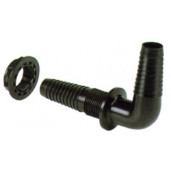 RACCORD PASSE CLOISON COUDE ½''M D.15-17