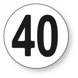 DISQUE 40 KM/H ADHESIF