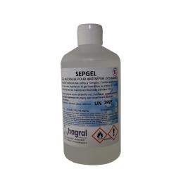 GEL HYDRO-ALCOOLIQUE SEPGEL FV70 FLACON 500ML